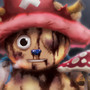 Tony Tony Chopper & the Amiudake Mushroom by EvanScale