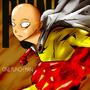 saitama one punch man by fiepaper