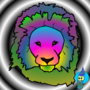 psychedelic lion by ericpolley