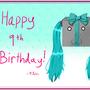 Miku 2016 Birthday Card by JuliusMabe