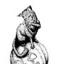 Cat Annoying a Jack-o-Lantern by TylerBlake