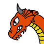 Cartoony dragon by Stickening