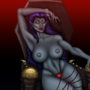Vampire Girl Ayala Topless by TheSquatch