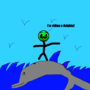 I'm Riding a Dolphin! by ArmyDudeInTheHouse