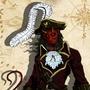 Aamon Presh - Tiefling Rogue Pirate (Alternate)