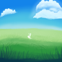 bunny in the grass lmao get off my grass yu bich by lilm00nie