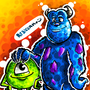 Mike and Sully by BeKoe