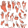 Practicing hands by Heumilch