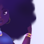 afro by saninakreid