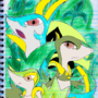 Evolutions of Snivy by TEhDove