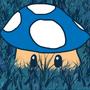 Blue Mario Mushroom by Icecreammortal