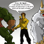 Kirk , Gorn and a Mugato by RickMarin