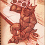 Werewolf with a Boom Box by GCS-WT