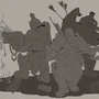 Dwarfs 1 part lineart by InspirationWorkshop