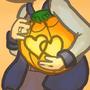 Kennedy's pumpkin by Mememysweetest