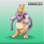 Mewtwo Dragonite fusion into Dragotu by ZflxDVerdammt