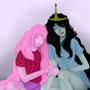 Marceline and princess bubblegum by Taitanator