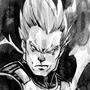 Inktober 2016: Vegeta by BiggCaZv2