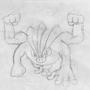 Mankey-Machamp-sketch by MagnusRosenbergChris