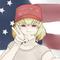 Patriotic Clementine Selfie