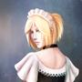 Grumpy Yuri maid by StarksNotDead
