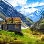 Cottage by the Mountains by AnnasArt