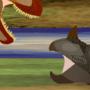 Tyrannosaurus vs Triceratops by KatolSteele