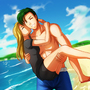 couple beach by irvintiu