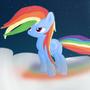 My first digital paining - Rainbow Dash by Zurex
