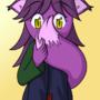 Shy Purple Fox by Kneezle