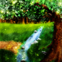 Tree And Brook by Delina