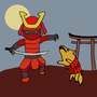 Samurai & a Doggo by Jombloxx1