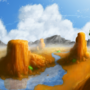 First Attempt At Landscape by BadLore