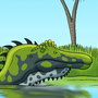 Swimming Spinosaurus by BrandonP