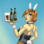 bunny bartender pinup