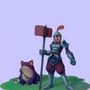 Knight and his toad companion by Malbort