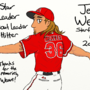 Jered Weaver tribute drawing by AeroRanger100