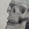 Charcoal Skull Drawing
