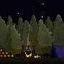 Camping in the Forest by FiveHolesStudio