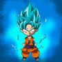 Son Goku SuperSaiyajin God by cvillart