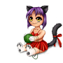 Xmas catgirl 2014 by CrimsonWolf64