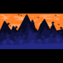 Mountain Sunset by PixelGuyAnimations