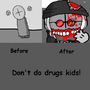 Don't do drugs, kids. by xKirxeee