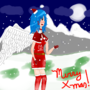 Blue-White Christmas Angel by SaviorLoji