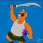 Warrior Fighting Fish by Battlebear1997