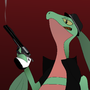 Gangster Grovyle by MasterCyconide