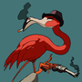 Flamingo Has Revolver by misterIG