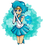 Sailor Mercury FanArt by cvillart
