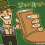 Crocodile Dundee by yellowbouncyball