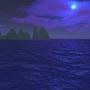 blue water, purple sky by DXsamurai
